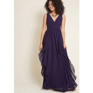 Mod Cloth Lace & Mesh - Ruffles Ripple Maxi Dress